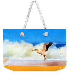 Weekender Tote Bag featuring the painting Touch Down by Chris Armytage