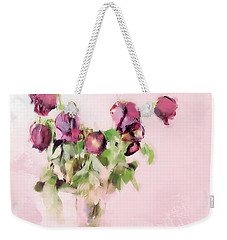 Weekender Tote Bag featuring the mixed media Touchable by Betty LaRue