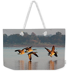 Touching Down At Sunrise Weekender Tote Bag