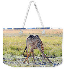 Weekender Tote Bag featuring the photograph Tough Job by Betty-Anne McDonald