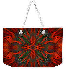Weekender Tote Bag featuring the digital art Tough Red by Giada Rossi