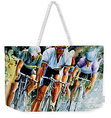 Weekender Tote Bag featuring the painting Tour De Force by Hanne Lore Koehler