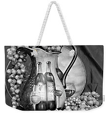 Weekender Tote Bag featuring the photograph Tour Of Italy In Black And White by Sherry Hallemeier