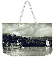 Touring The Lakes In Sepia Weekender Tote Bag