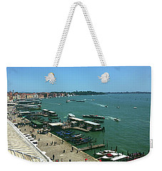Weekender Tote Bag featuring the photograph Towards Giardino by Anne Kotan