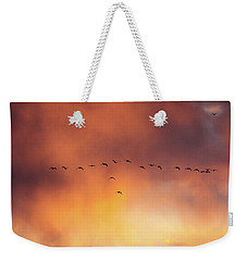 Towards The Sun Weekender Tote Bag
