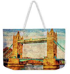 Tower Bridge London Weekender Tote Bag by Judi Saunders