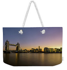 Tower Bridge Sunset Panoramic Weekender Tote Bag by Matt Malloy