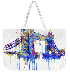 Tower Bridge Watercolor Weekender Tote Bag by Marian Voicu