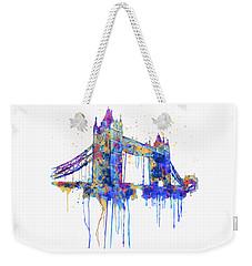 Tower Bridge Watercolor Weekender Tote Bag by Marian Voicu