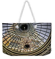 Tower Through Glass Dome In Bellagio Ceiling Weekender Tote Bag by Walt Foegelle