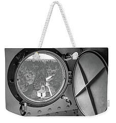 Weekender Tote Bag featuring the photograph Tower View by Janice Adomeit