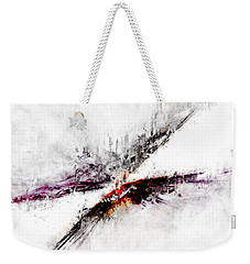 Weekender Tote Bag featuring the digital art Towers by Claire Bull