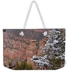 Towers In The Snow Weekender Tote Bag by Debby Pueschel