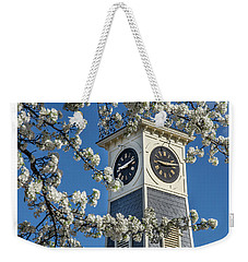 Town Clock In Spring Weekender Tote Bag