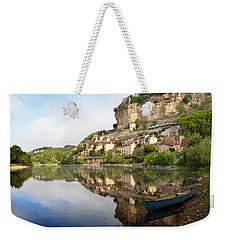 Town Of Beynac-et-cazenac Alongside Dordogne River Weekender Tote Bag