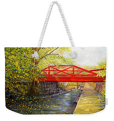 Towpath In New Hope Weekender Tote Bag