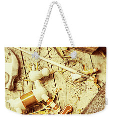 Toy Making At Santas Workshop Weekender Tote Bag by Jorgo Photography - Wall Art Gallery