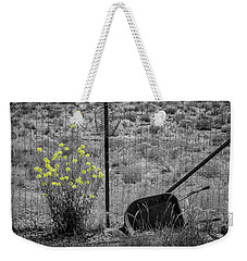 Toy Wheelbarrow And Wild Flowers Weekender Tote Bag