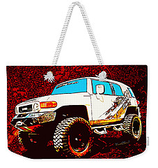 Toyota Fj Cruiser 4x4 Cartoon Panel From Vivachas Weekender Tote Bag