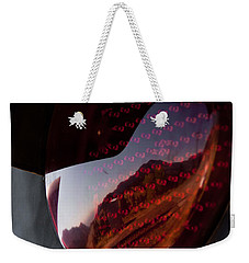 Weekender Tote Bag featuring the photograph Track Reflections by Colleen Coccia