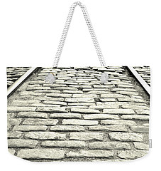 Tracks In The Road Weekender Tote Bag
