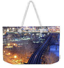 Tracks Into The City Color Weekender Tote Bag
