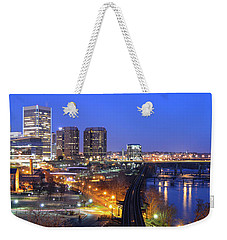 Tracks Into The City Wide Angle Weekender Tote Bag