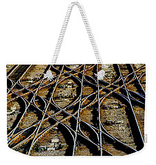 Tracks Of Abandon Weekender Tote Bag by Michael Nowotny