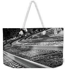 Weekender Tote Bag featuring the photograph Tracks Through Historic Buford by Doug Camara