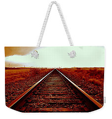 Marfa Texas America Southwest Tracks To California Weekender Tote Bag