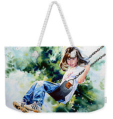 Weekender Tote Bag featuring the painting Tracy by Hanne Lore Koehler