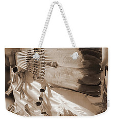 Weekender Tote Bag featuring the photograph Traditional Dancer In Sepia by Heidi Hermes