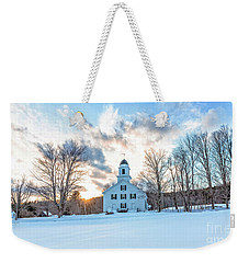 Weekender Tote Bag featuring the photograph Traditional New England White Church Etna New Hampshire by Edward Fielding
