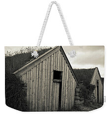 Weekender Tote Bag featuring the photograph Traditional Turf Or Sod Barns Iceland by Edward Fielding