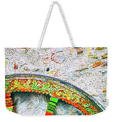 Weekender Tote Bag featuring the photograph Traditional Sicilian Cart Wheel Detail by Silvia Ganora