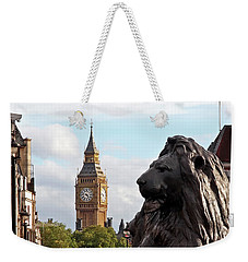 Trafalgar Square Lion With Big Ben Weekender Tote Bag