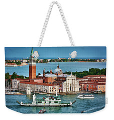 Traffic Around The Venetian Church Weekender Tote Bag