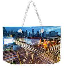 Traffic Light Trails In Singapore Chinatown Weekender Tote Bag