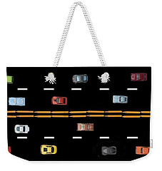 Weekender Tote Bag featuring the photograph Traffic - Panorama by Nikolyn McDonald