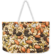 Weekender Tote Bag featuring the photograph Trail Mix Background by Jorgo Photography - Wall Art Gallery