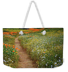 Weekender Tote Bag featuring the photograph Trail Of Wildflowers At Diamond Lake In California by Jetson Nguyen