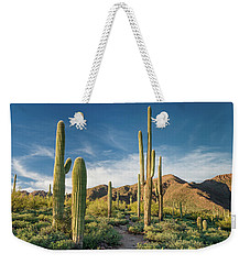 Trail Through Saguaro Weekender Tote Bag