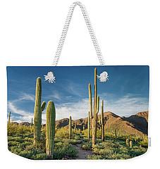 Trail Through Saguaro Weekender Tote Bag