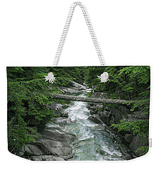 Weekender Tote Bag featuring the photograph Trail To The Falls by Crystal Hoeveler