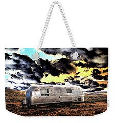 Weekender Tote Bag featuring the photograph Trailer by Jim and Emily Bush