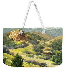 Trails Of Vasquez Canyon Weekender Tote Bag