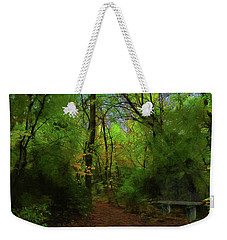 Trailside Bench Weekender Tote Bag by Cedric Hampton