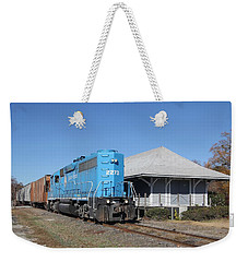 Train At A Station Weekender Tote Bag
