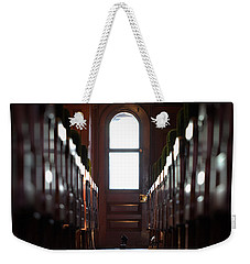 Train Car Interior Weekender Tote Bag by Joseph Skompski